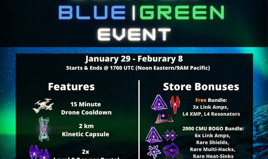 Winter Green-Blue Event Infographic