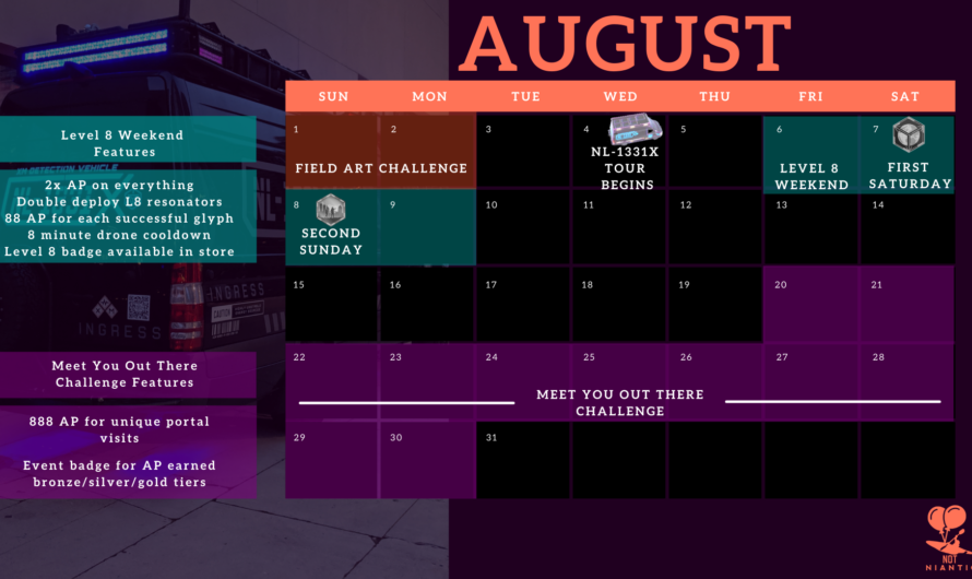 Event Calendar for July – September